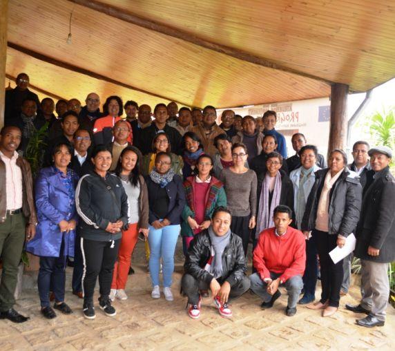 Les membres du comité de pilotage à Andasibe